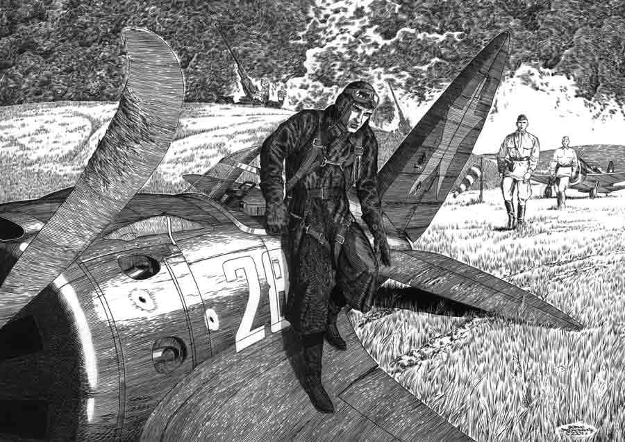 Лето-1941 Ватман, тушь. 29х42см
